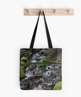 Falling Cascades of the Cascade Mountains Oregon tote bag
