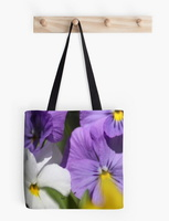 Pansy Flower Blooms tote bag