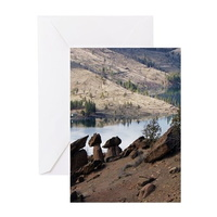 balancing rocks of oregon greeting cards