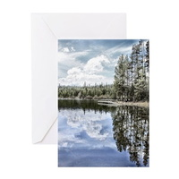 design of water reflections greeting cards