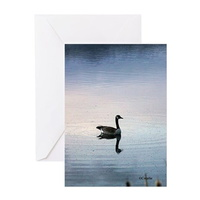 goose in the early morning light greeting cards