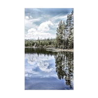 design of water reflections sticker rectangle