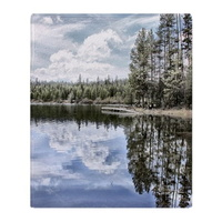 design of water reflections throw blanket
