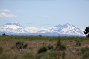 Sisters Mountains Seen in Jefferson County Oregon 1083