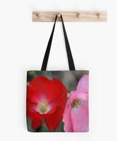 Poppy Flower Color tote bag