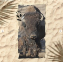 Bison Of The West Beach Towel 2