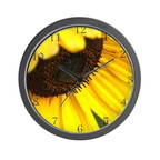 1506040980colorful and flashy sunflower wall clock