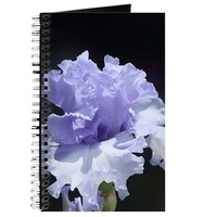 blue tall bearded iris journal