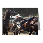bulldogging-note cards pk of 20
