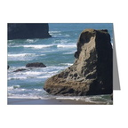 pacific-ocean-beach-scene-note cards pk of 20
