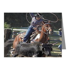 rodeo roping note cards