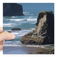 Pacific-Ocean-Scene-square sticker 3 x 3