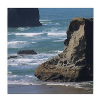 pacific-ocean-beach-scene-tile coaster