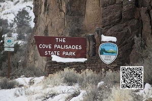 cove palisades state park sign 283